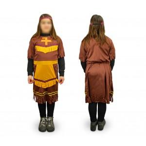 537561 Costume di carnevale da indiana da Bambina da 3 a 12 anni