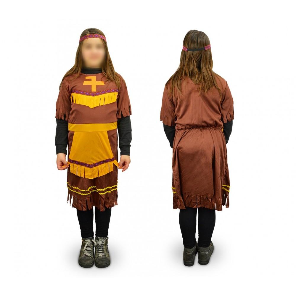 537561 Costume di carnevale travestimento indiana da Bambina da 3 a 12 anni