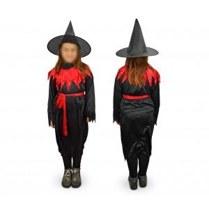 368745 Costume di carnevale da strega da Bambina da 3 a 12 anni
