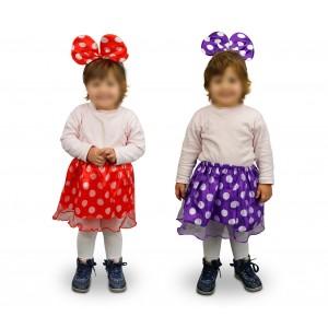 529917 Costume di carnevale da topina gonna e orecchie da Bambina da 2 a 4 anni