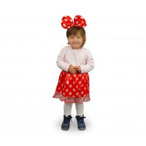 Image of 529917 Costume di carnevale da topina gonna e orecchie da Bambina da 2 a 4 anni 6975464210309