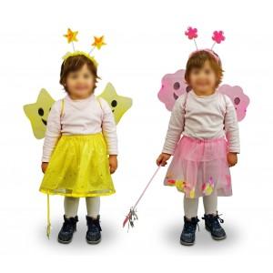 620256 Costume Fatina Ali e Fiori Bambina da 3 a 5 anni