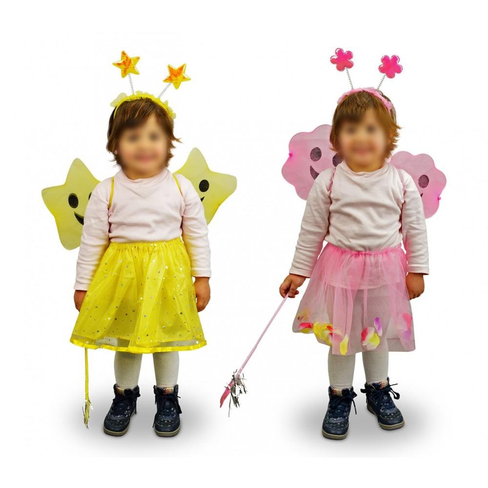 620256 Costume carnevale travestimento Fatina Ali e Fiori Bambina da 3 a 5 anni