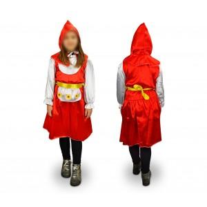 368660 Costume Cappuccetto Rosso Fiorito Bambina da 3 a 11 anni