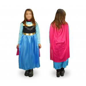 537745 Costume Principessa Regno Freddo Bambina da 3 a 12 anni
