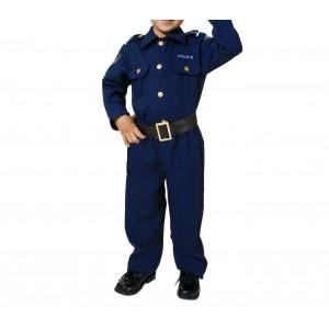 227738 Costume carnevale travestimento Poliziotto Bambino da 3 a 9 anni