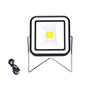 RY-T91330 Faretto LED quadrato energia solare portatile 10W ricaricabile con USB