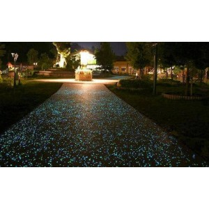 Pack da 100 sassolini luminosi decorativi fluorescenti vari colori sassi glow in the dark giardino