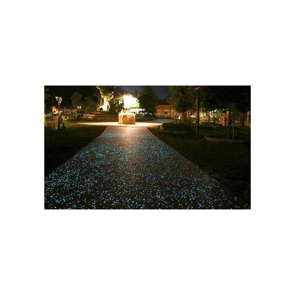 Pack da 100 sassolini luminosi decorativi fluorescenti vari colori sassi glow in the dark giardino