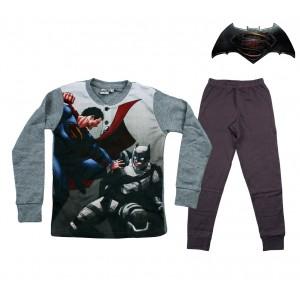 DC16-110D Pigiama da bambino Batman vs Superman in caldo cotone da 8 a 12 anni