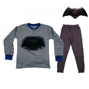 DC16-110S Pigiama da bambino Batman vs Superman in caldo cotone da 8 a 12 anni