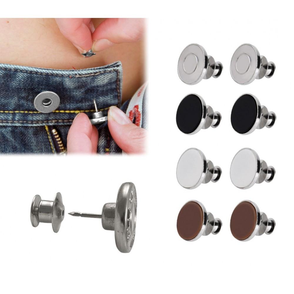 012969 Set 8 bottoni a clip aggiuntivi kit emergenza ripara pantaloni