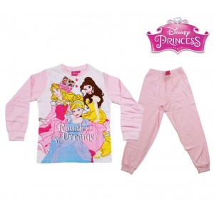 WD22-022 Pigiama da bambina Principesse Disney in caldo cotone 7 anni