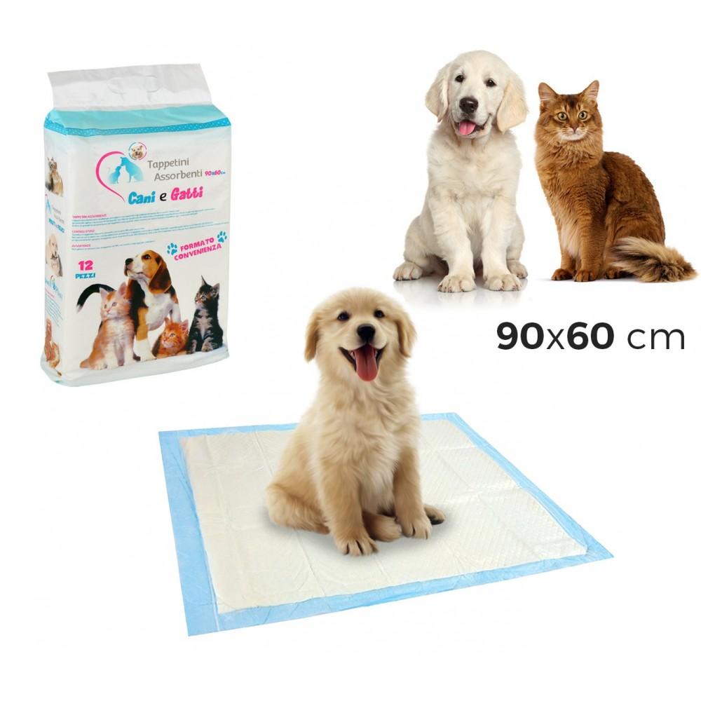 629306 Pack 12 traverse assorbenti per cani e gatti 90x60 cm cattura odori