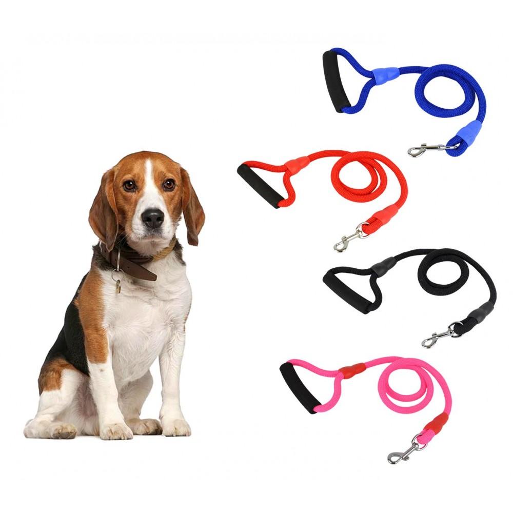 Guinzaglio a corda ART 0084 cani taglia piccola e media 114 cm con moschettone