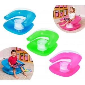 75006 Poltrona gonfiabile per bambini Bestway in tre colori 76 x 76 cm