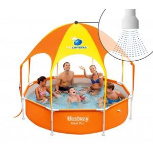 56432 Piscina Play Splash-In-Shade Bestway con gazebo e doccetta 244x51 cm