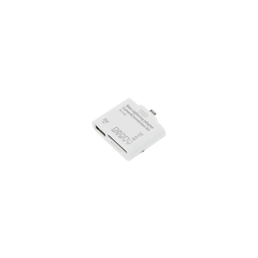 Kit connessione 5 in 1 connection camera LIGHTNING lettore card Usb micro SD