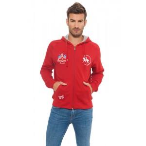 805003A Felpa da uomo Huntington polo club mod. Manhattan colore Rosso