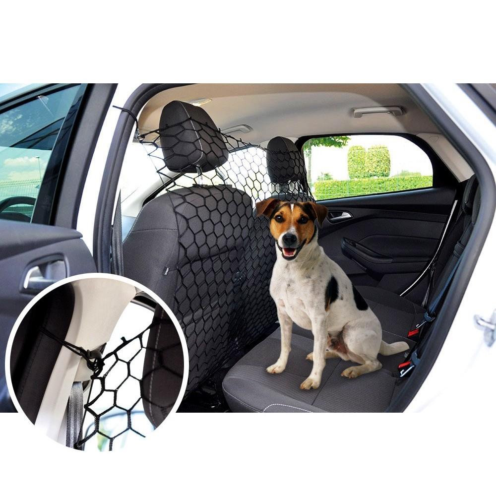 990013 Divisorio in rete elastica per il trasporto in auto di cani e gatti
