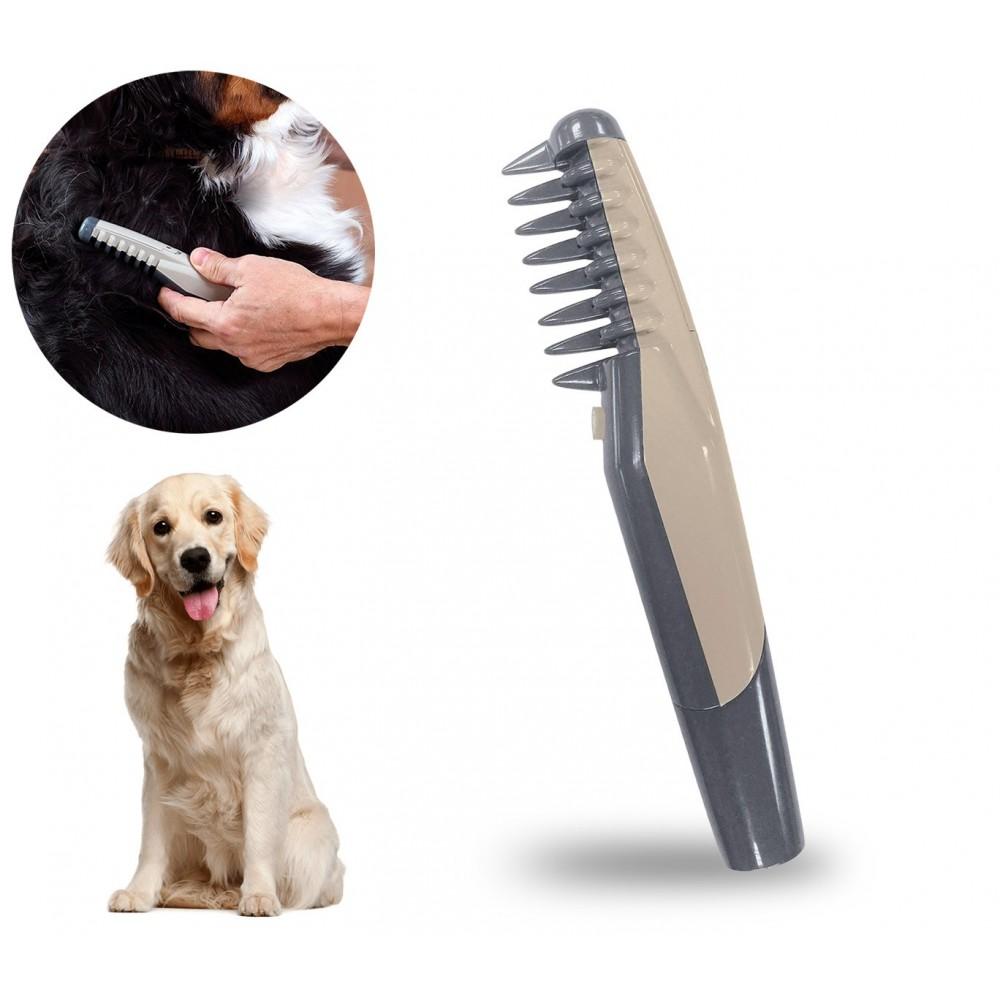 045763 Pettine elettrico taglia e sciogli nodi per cani e gatti a batterie