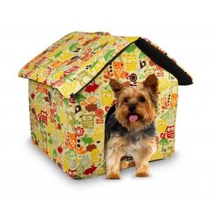 901064 Cuccia morbida a forma di casetta per cani di piccola taglia