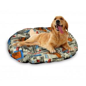 3687 Materassino ovale per cani in diverse misure modello POSTCARD