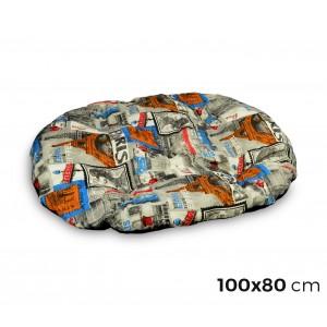 Image of 3687 Materassino ovale per cani in diverse misure modello POSTCARDS 7106894552076