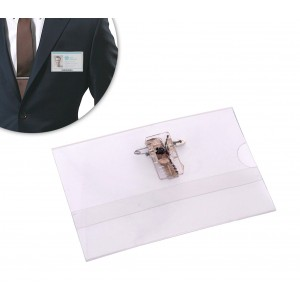 450182 Set da 50 porta badge con pinza 90 x 60 mm