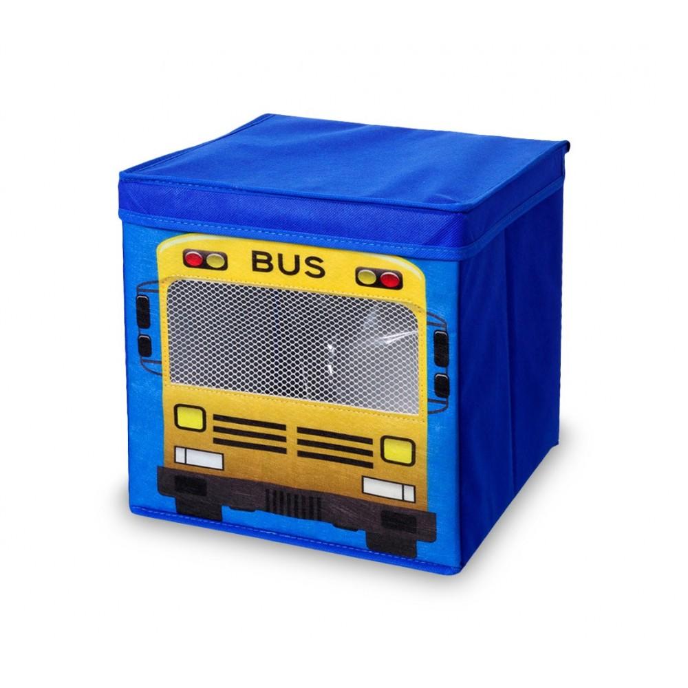 783103 Scatola portagiochi per bambini quadrata con coperchio 27 x 28 cm in tnt