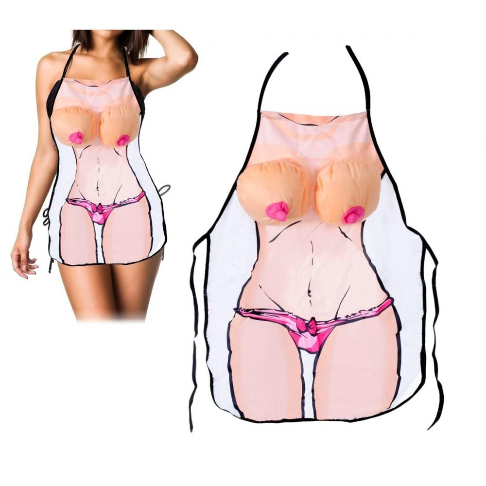 748986 Idea regalo grembiule da cucina donna sexy con seno in peluche in rilievo