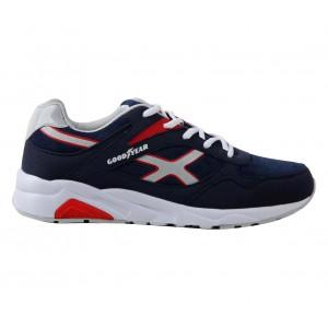 GY71130-D Sneakers da uomo GOODYEAR colore Blu con inserti rossi mod. Running