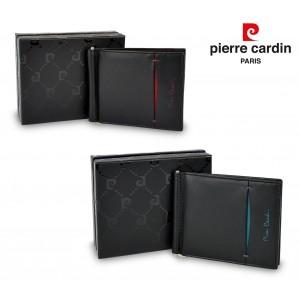 TILAK07 Porta carte di credito PIERRE CARDIN in vera pelle con ferma soldi