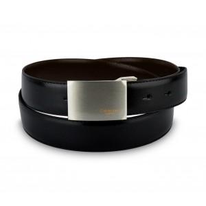 CK014-B46 Cintura in pelle CALVIN KLEIN con fibbia in acciaio con logo