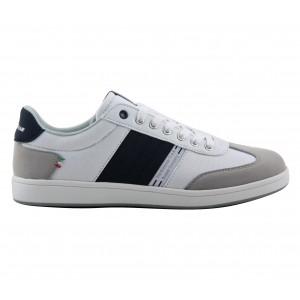 GY61088 WHITE Sneakers uomo GOODYEAR bianco dettagli in camoscio mod. Rubber