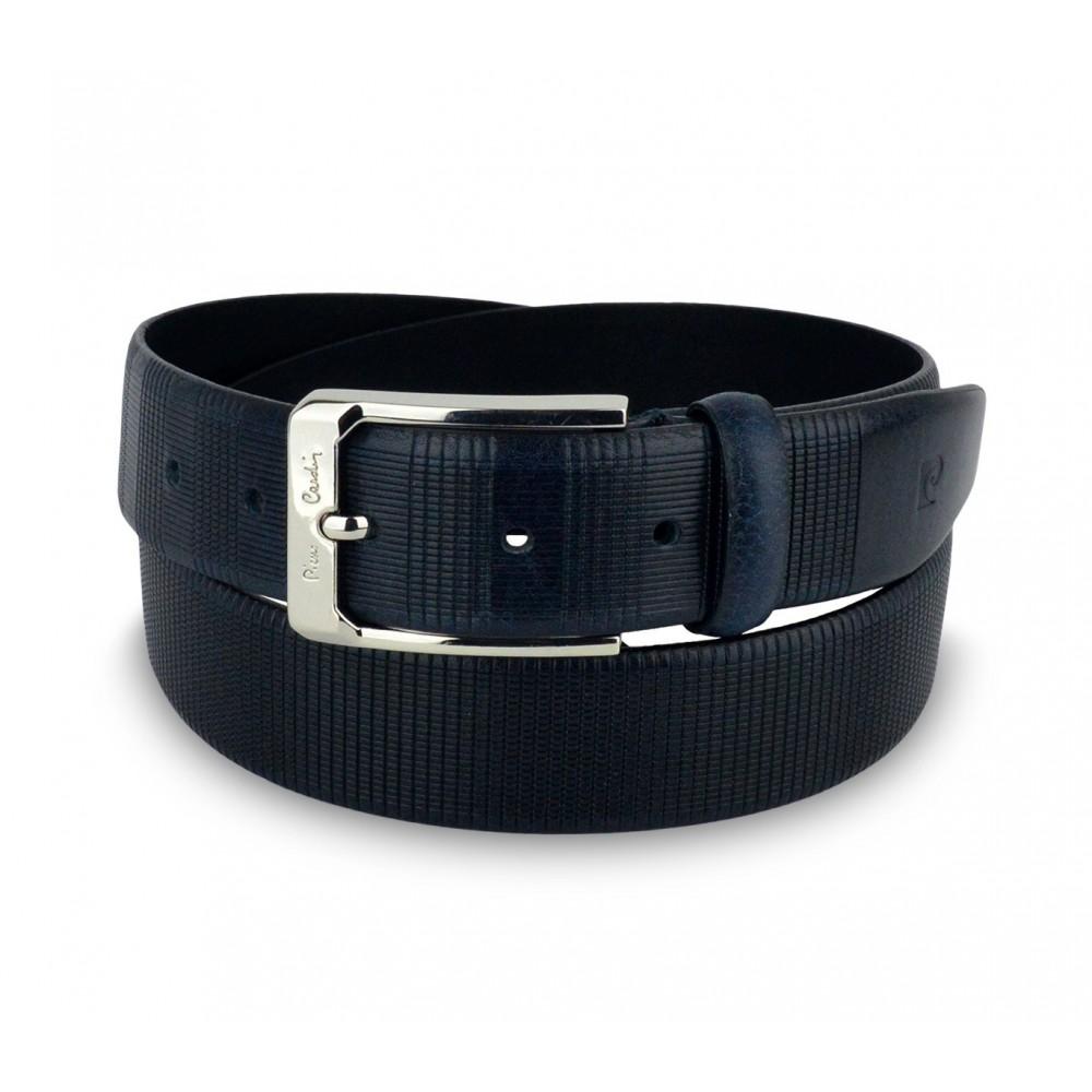 official supplier aliexpress discount sale 8005 Cintura da uomo in vera pelle PIERRE CARDIN con fibbia in acciaio
