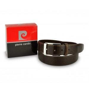 Image of Cintura da uomo 8005 in vera pelle PIERRE CARDIN con fibbia in acciaio lucido 7106898206395