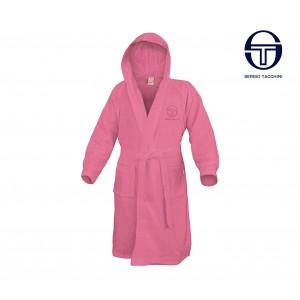 67233 Accappatoio da donna SERGIO TACCHINI linea home colore rosa 100% cotone