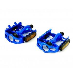 Image of Coppia pedali alluminio FLAT ricambio bici 300057 perno ø 14.2 mm 7106891966890