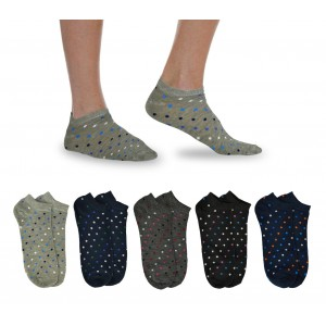 Image of Pack 12 paia di calzini corti H-211 mod. BALL fantasmini uomo tg. Unica 40/46 7106897874519