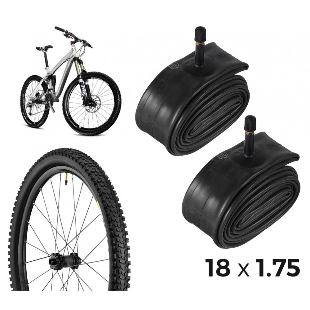 Kit di 2 camere d'aria per la bicicletta 304598 riparazione forature 18 x 1.75