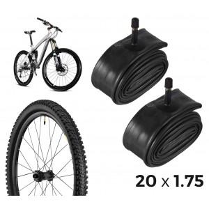 Kit di 2 camere d'aria per la bicicletta 304574 riparazione forature 20 x 1.75