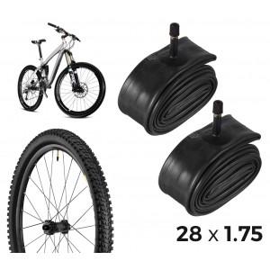 Kit di 2 camere d'aria per la bicicletta 304604 riparazione forature 28 x 1.75