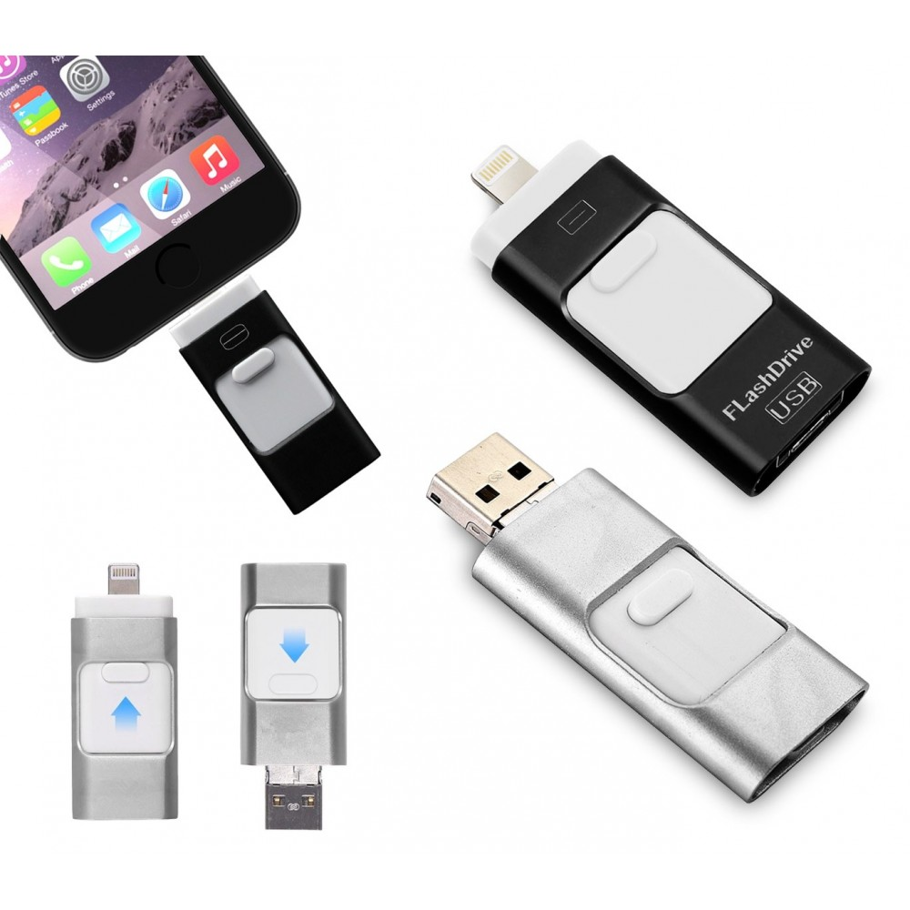 Pendrive usb 3 in 1 connettori lightning micro usb 64 GB flash drive storage