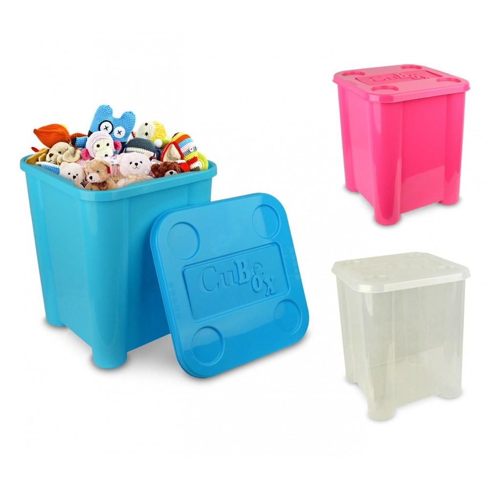 Box in plastica rigida 355312 porta giochi con coperchio 29 x 33 x 33cm
