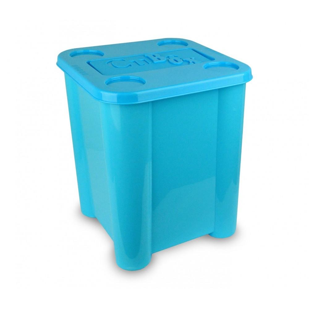 355312 Box In Plastica Rigida Porta Giochi Con Coperchio 29 X 33 X 33