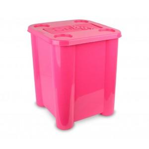 Image of Box in plastica rigida 355312 porta giochi con coperchio 29 x 33 x 33cm 7106895945778
