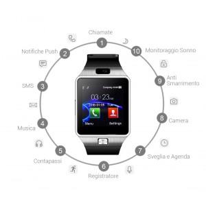 Smartwatch bluetooth11010con sim display hd compatibile con tutti gli smartphone