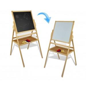 36847 Lavagna reversibile in legno 2 in 1 con gessetti e cancellino50 x 45 x 110