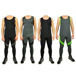 Completo sportivo da uomo URANO pantaloni e canotta dalla S alla XL